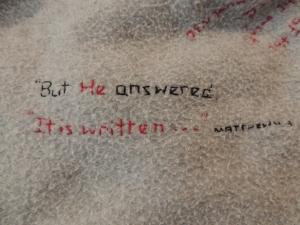 It is written...Matthew 4:4
