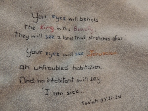 Your eyes will behold the King! Isaiah 33:17-24