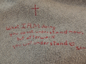 What I AM doing...John 13:7
