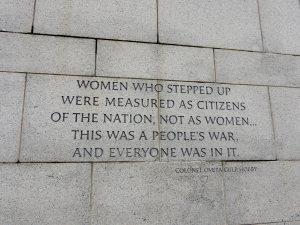 WWII Women Memorial, Washington, DC