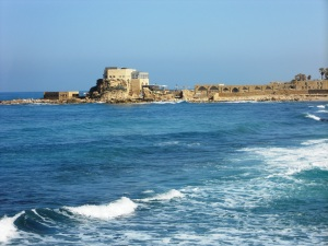 Caesarea on the Mediterranean - Paul would have been imprisoned here while waiting to journey to Rome. Acts 24 and Acts 25