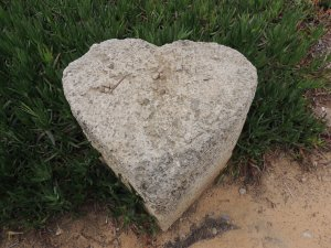"Heart shaped stone captured at Caesarea. Cornelius, the centurion who sent for Peter while Peter was lodging in Joppa. Acts 10:1 and Paul would have stood before ""Felix at Caesarea"" Acts 24:1-27"