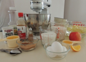 Ingredients L'Chaim' Apple Cake
