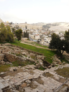 2000 year old steps leading to Caiaphas' House in Jerusalem. photo captured by denisebalog February 2011.
