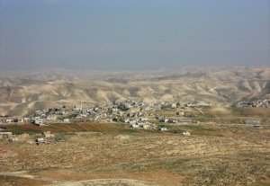 View from Herod's palace towards Bethlehem, located approximately 5 miles from Jerusalem.