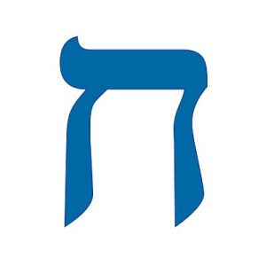 Chet - 8th Hebrew letter. Word Picture - Fence Meaning: - inner-room, protection, private, to separate, full-face. Can you see the outline of the face? Full Face of Jesus is what I see:)