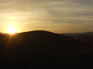 "...for You are close beside me."" Psalm 23 (NLT) Sunsetting over Judean Wilderness - looking towards Jerusaelm"