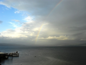 Rainbow of the Sea of Galilee