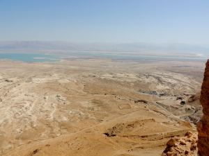 View of the Dead Sea from Masada - Israel