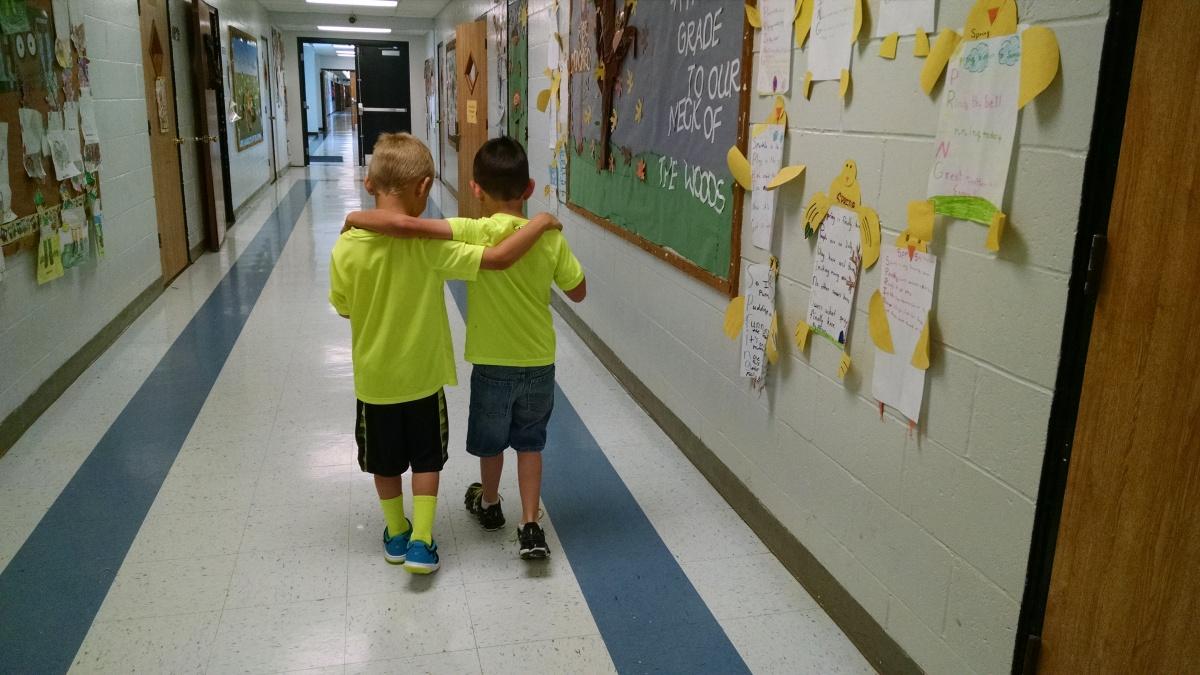 Hugs in Elementary –Friendship