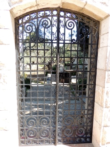 Gate looking into the Garden of Gethsemane