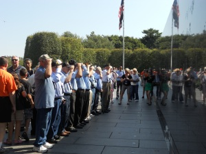 Korean War Veteran's at Korean War Memorial, Washington, DC