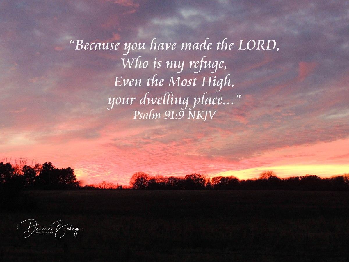 Psalm 91:9 –Refuge